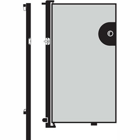 Screenflex 6'H Door - Mounted to End of Room Divider - Grey Stone