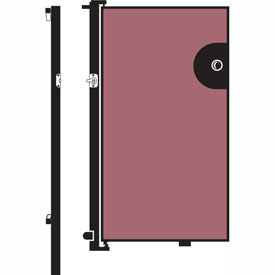 Screenflex 6'H Door - Mounted to End of Room Divider - Vinyl-Raspberry Mist