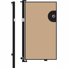 Screenflex 6'H Door - Mounted to End of Room Divider - Vinyl-Hazelnut