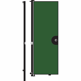 "Screenflex 6'8""H Door - Mounted to End of Room Divider - Sea Green"