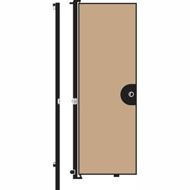 "Screenflex 7'4""H Door - Mounted to End of Room Divider - Wheat"