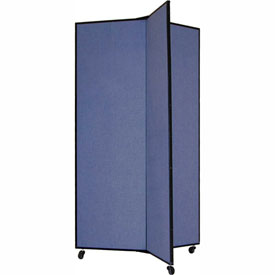 "3 Panel Display Tower, 5'9""H, Fabric - Summer Blue"