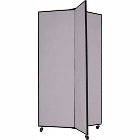 "3 Panel Display Tower, 5'9""H, Fabric - Grey Smoke"