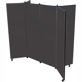"6 Panel Display Tower, 5'9""H, Fabric - Black"