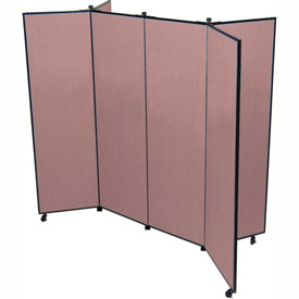 "6 Panel Display Tower, 5'9""H, Fabric - Cranberry"