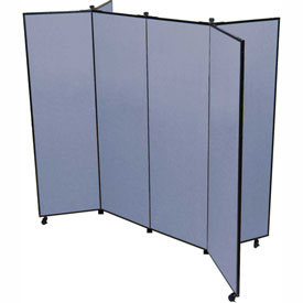 "6 Panel Display Tower, 6'5""H, Fabric - Lake"
