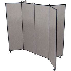 "6 Panel Display Tower, 6'5""H, Fabric - Stone"