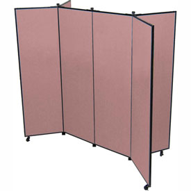 "6 Panel Display Tower, 6'5""H, Fabric - Rose"