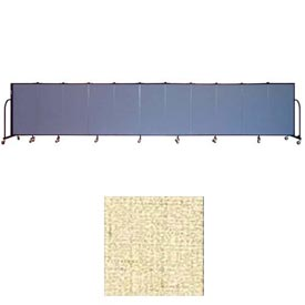 "Screenflex 11 Panel Portable Room Divider, 4'H x 20'5""L, Vinyl Color: Hazelnut"