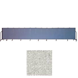 "Screenflex 13 Panel Portable Room Divider, 4'H x 24'1""L, Vinyl Color: Granite"