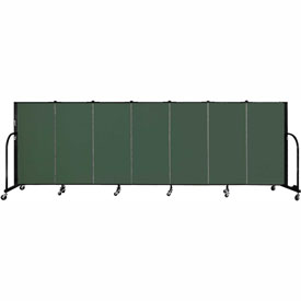 "Screenflex 7 Panel Portable Room Divider, 4'H x 13'1""L Fabric Color: Mallard"
