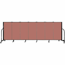 "Screenflex 7 Panel Portable Room Divider, 4'H x 13'1""L Fabric Color: Cranberry"