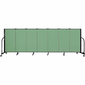 "Screenflex 7 Panel Portable Room Divider, 4'H x 13'1""L Fabric Color: Sea Green"
