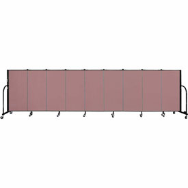 "Screenflex 9 Panel Portable Room Divider, 4'H x 16'9""L, Fabric Color: Rose"