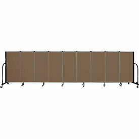 "Screenflex 9 Panel Portable Room Divider, 4'H x 16'9""L, Fabric Color: Walnut"