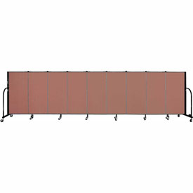 "Screenflex 9 Panel Portable Room Divider, 4'H x 16'9""L, Fabric Color: Cranberry"