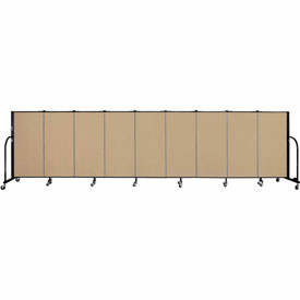 "Screenflex 9 Panel Portable Room Divider, 4'H x 16'9""L, Fabric Color: Sand"