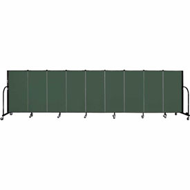 "Screenflex 9 Panel Portable Room Divider, 4'H x 16'9""L, Fabric Color: Green"