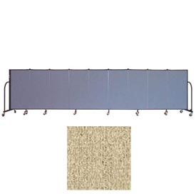 "Screenflex 9 Panel Portable Room Divider, 4'H x 16'9""L, Vinyl Color: Sandalwood"