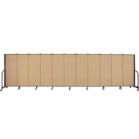 "Screenflex 11 Panel Portable Room Divider, 5'H x 20'5""L, Fabric Color: Desert"