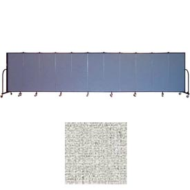 "Screenflex 11 Panel Portable Room Divider, 5'H x 20'5""L, Vinyl Color: Granite"
