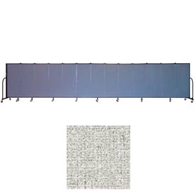 "Screenflex 13 Panel Portable Room Divider, 5'H x 24'1""L, Vinyl Color: Granite"