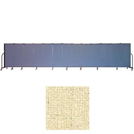 "Screenflex 13 Panel Portable Room Divider, 5'H x 24'1""L, Vinyl Color: Hazelnut"