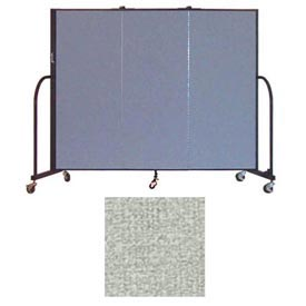 "Screenflex 3 Panel Portable Room Divider, 5'H x 5'9""L, Vinyl Color: Mint"