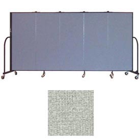 "Screenflex 5 Panel Portable Room Divider, 5'H x 9'5""L, Vinyl Color: Mint"
