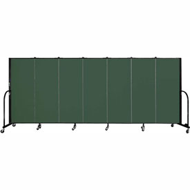 "Screenflex 7 Panel Portable Room Divider, 5'H x 13'1""L, Fabric Color: Mallard"