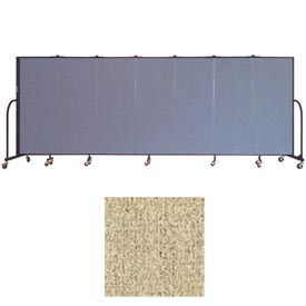 "Screenflex 7 Panel Portable Room Divider, 5'H x 13'1""L, Vinyl Color: Sandalwood"