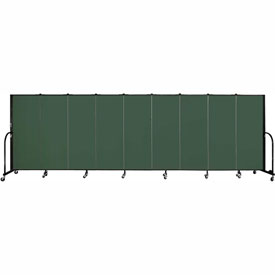 "Screenflex 9 Panel Portable Room Divider, 5'H x 16'9""L, Fabric Color: Mallard"