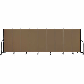 "Screenflex 9 Panel Portable Room Divider, 5'H x 16'9""L, Fabric Color: Walnut"