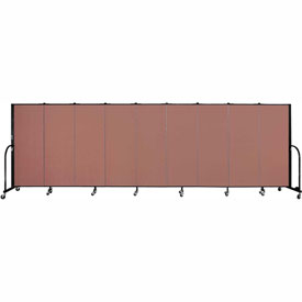 "Screenflex 9 Panel Portable Room Divider, 5'H x 16'9""L, Fabric Color: Cranberry"