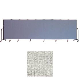 "Screenflex 9 Panel Portable Room Divider, 5'H x 16'9""L, Vinyl Color: Granite"
