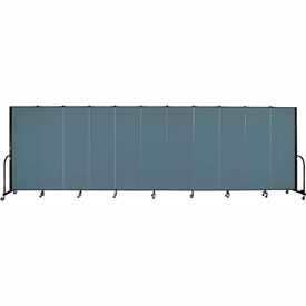 "Screenflex Portable Room Divider - 11 Panel - 6'H x 20'5""L -  Lake"
