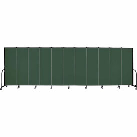 "Screenflex 11 Panel Portable Room Divider, 6'H x 20'5""L, Fabric Color: Mallard"