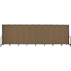 "Screenflex Portable Room Divider - 11 Panel - 6'H x 20'5""L -  Walnut"