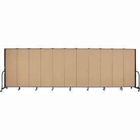"Screenflex Portable Room Divider - 11 Panel - 6'H x 20'5""L -  Desert"