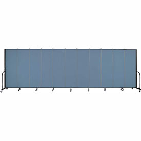 "Screenflex Portable Room Divider - 11 Panel - 6'H x 20'5""L -  Summer Blue"
