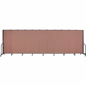 "Screenflex Portable Room Divider - 11 Panel - 6'H x 20'5""L -  Cranberry"