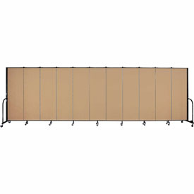 "Screenflex Portable Room Divider - 11 Panel - 6'H x 20'5""L -  Sand"