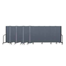 "Screenflex Portable Room Divider - 13 Panel - 6'H x 24'1""L -  Lake"