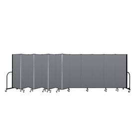 "Screenflex Portable Room Divider - 13 Panel - 6'H x 24'1""L -  Stone"