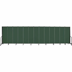 "Screenflex 13 Panel Portable Room Divider, 6'H x 24'1""L, Fabric Color: Mallard"