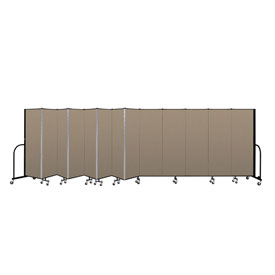 "Screenflex Portable Room Divider - 13 Panel - 6'H x 24'1""L -  Desert"