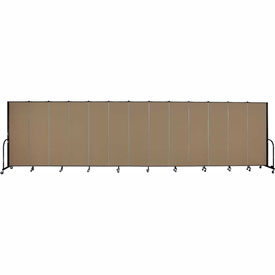 "Screenflex 13 Panel Portable Room Divider, 6'H x 24'1""L, Fabric Color: Beech"