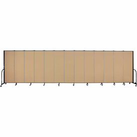 "Screenflex 13 Panel Portable Room Divider, 6'H x 24'1""L, Fabric Color: Wheat"