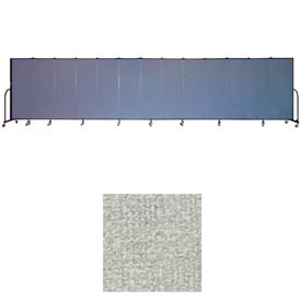"Screenflex 13 Panel Portable Room Divider, 6'H x 24'1""L, Vinyl Color: Mint"