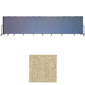 "Screenflex 13 Panel Portable Room Divider, 6'H x 24'1""L, Vinyl Color: Sandalwood"